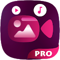Video Maker of Photos Editor with Music Pro icon