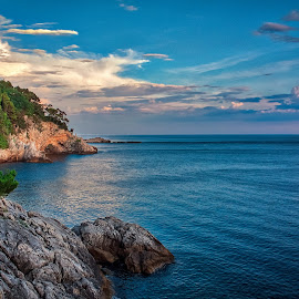 Dubrovnk Seascape by Branko Meic-Sidic - Landscapes Waterscapes ( croatia, beautiful, seascape, blue, dubrovnik, meicsidic )