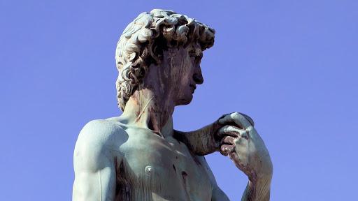 Bronze replica of David after Michelangelo's David, Piazzale Michelangelo