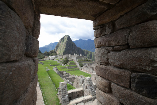 View of Machu Picchu from an estate window.