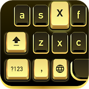 Golden Black Cheetah Keyboard
