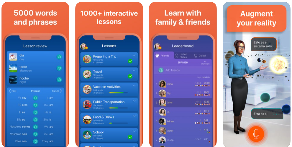 how to create a language learning app like Mondly or Duolingo