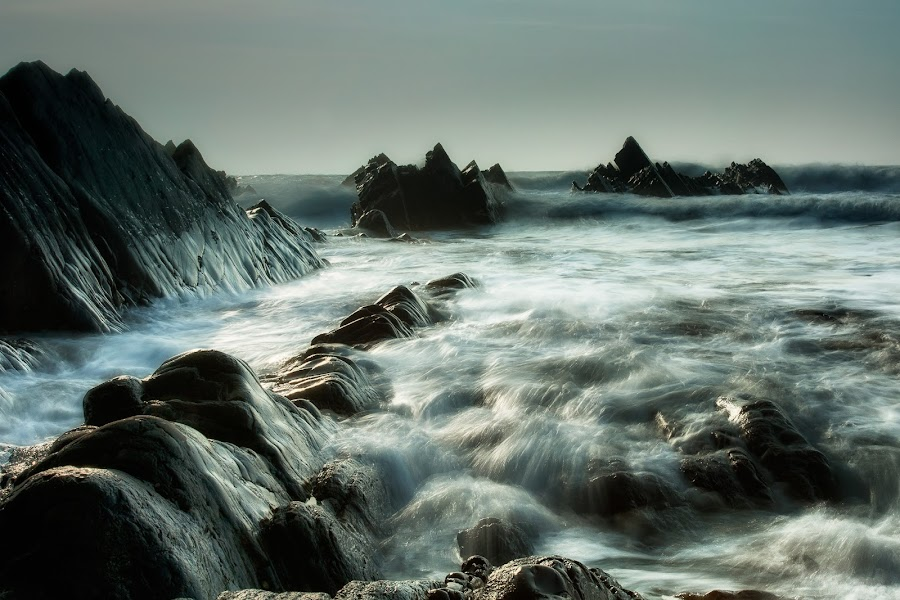 evening swell by Alan Ranger - Landscapes Waterscapes