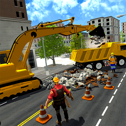 Mega City Road Construction- Truck  Simulator Game