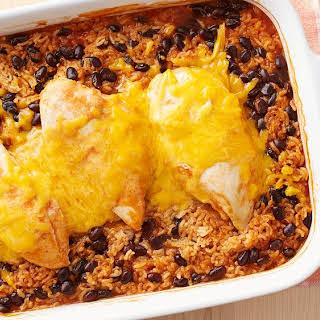 Cheesy Southwest Chicken and Rice Casserole.