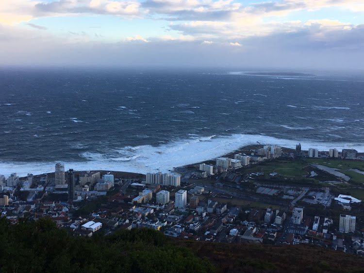 Strong waves pound the Cape coastline. Picture: RUVAN BOSCHOFF