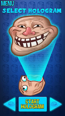 Hologram Troll Face Joke - screenshot