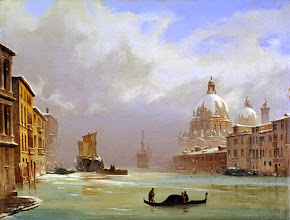 """Photo: Ippolito Caffi, """"Venezia con neve e nebbia"""""""
