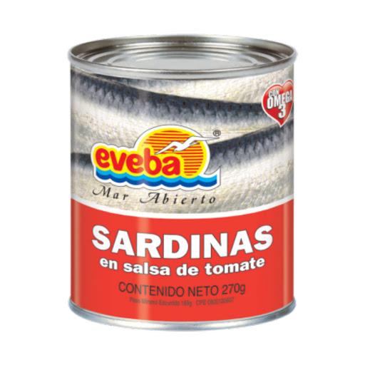 sardinas eveba salsa de tomate 270gr