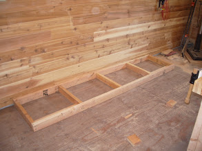 Photo: The east bench will be built along the same lines as the miter bench. 2x4 base...