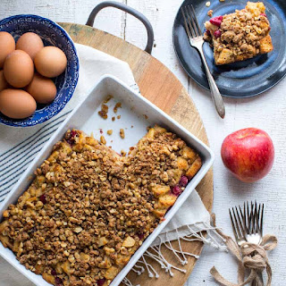 Cranberry Apple Christmas Breakfast Casserole.