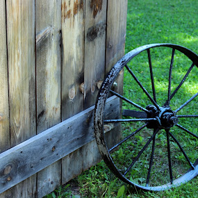 Old wheel by Janet Smothers - Artistic Objects Antiques (  )