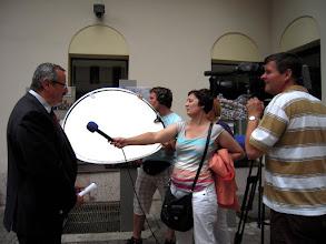 Photo: A polgármester úr felvétel közben