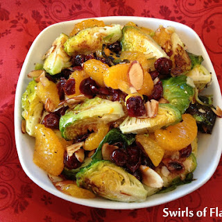 Roasted Cranberry Orange Brussel Sprouts