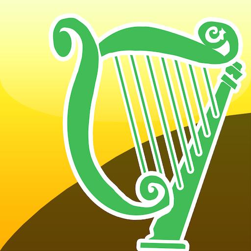 音乐のアイリッシュハープ (Celtic Harp) LOGO-記事Game