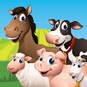 Farm Animal Match Up Game icon