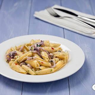 Penne with Calamari & White Sauce