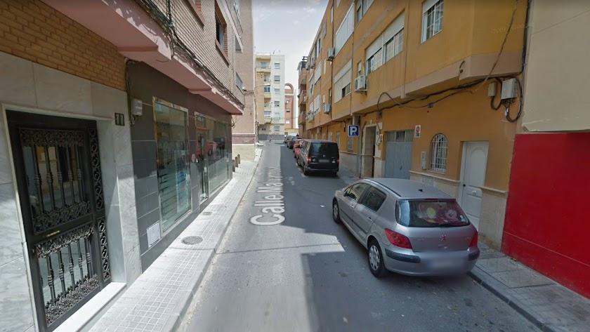 Lugar de la calle Malvarrosa en el que se produjo el accidente.
