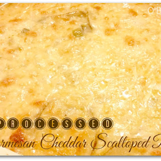 Parmesan Cheddar Scalloped Potatoes