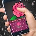 粉红色的花键盘 icon