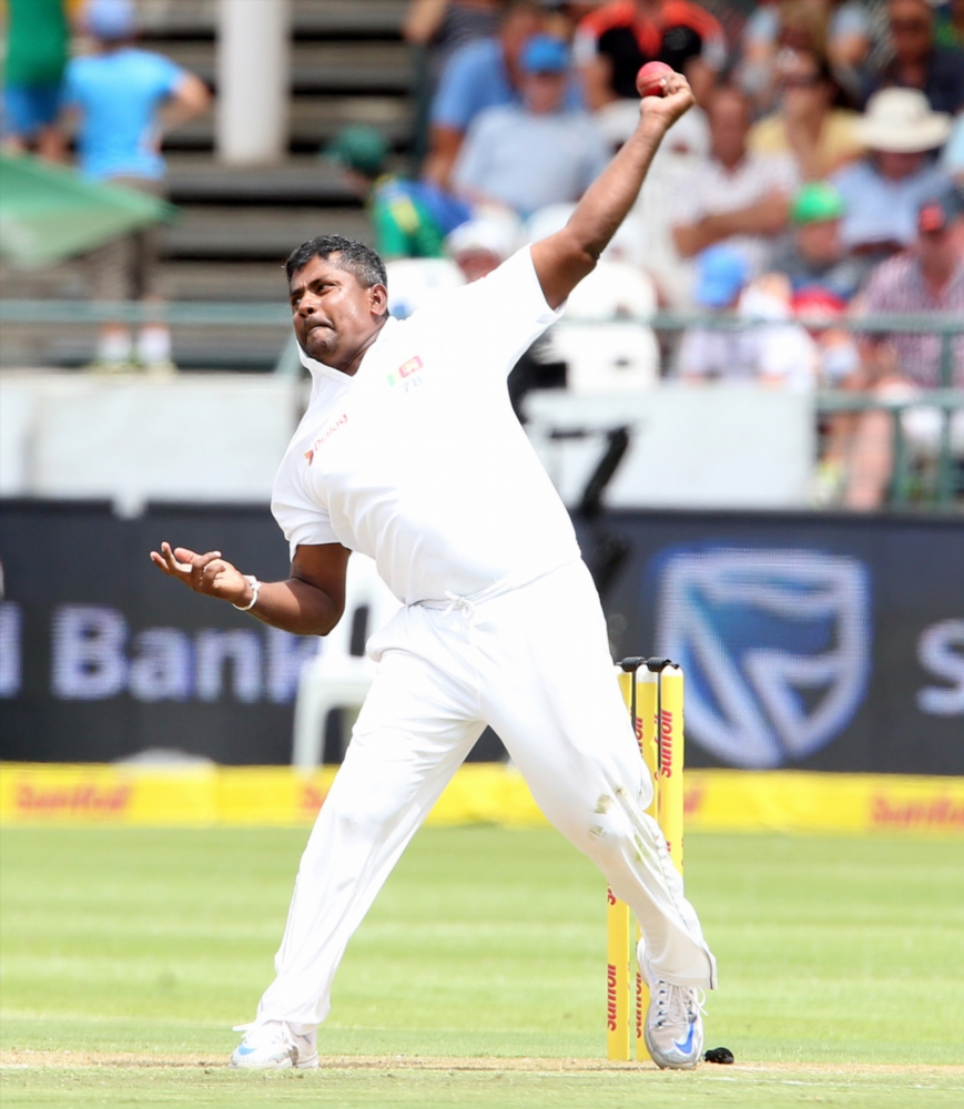 Rangana Herath of Sri Lanka in action. File Photo.