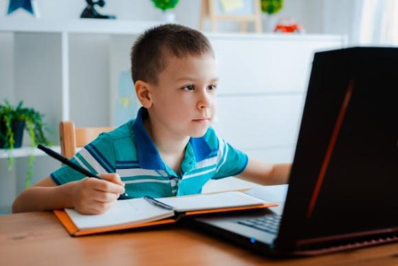 Distance learning online education. Premium Photo