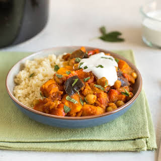 Sweet Potato And Chickpea Slow Cooker Tagine.