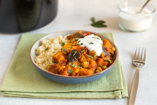 Sweet Potato and Chickpea Slow Cooker Tagine Recipe