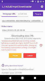 LJ m3u8/mp4 Downloader Screenshot