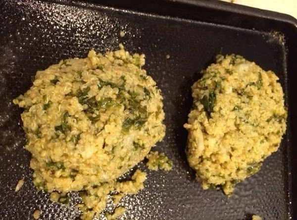Form into patties. Place patties on a greased cookie sheet.
