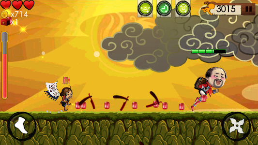 KILL THE NINJA : Bad Guy Run 2 screenshot 1
