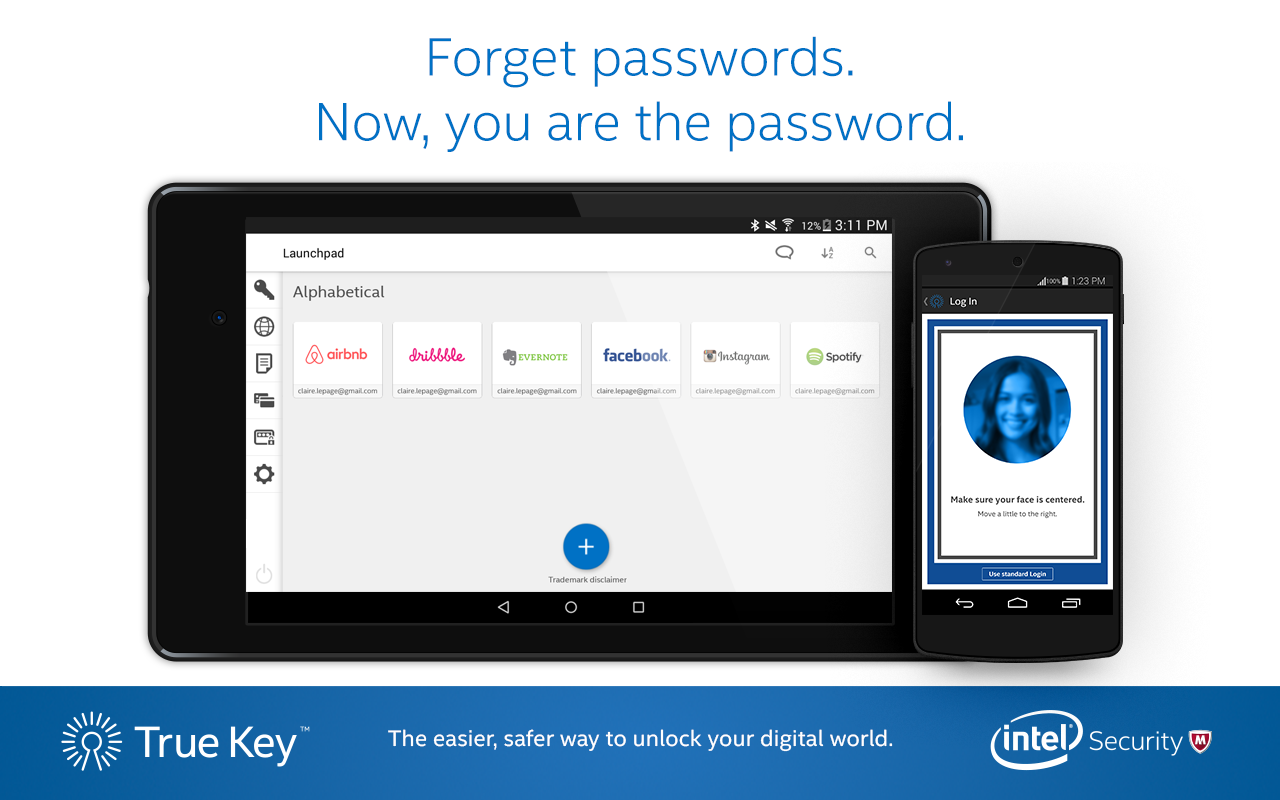 True Key™ by Intel Security- screenshot