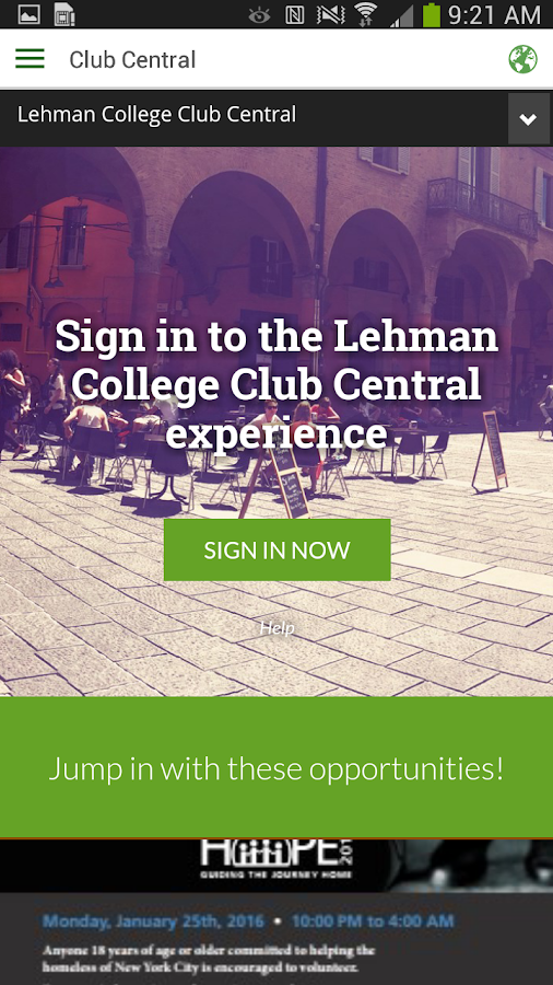 Lehman College- screenshot