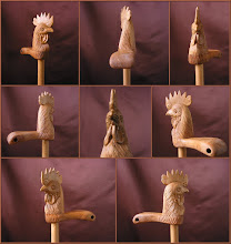 Photo: Bastón gallo. Talla en madera. Woodcarving.    Para leer algo más en relación con esta obra ir al blog: http://tallaenmadera-woodcarving-esculturas.blogspot.com/2009/04/tres-nuevos-bastones-gallo-perro-boxer.html