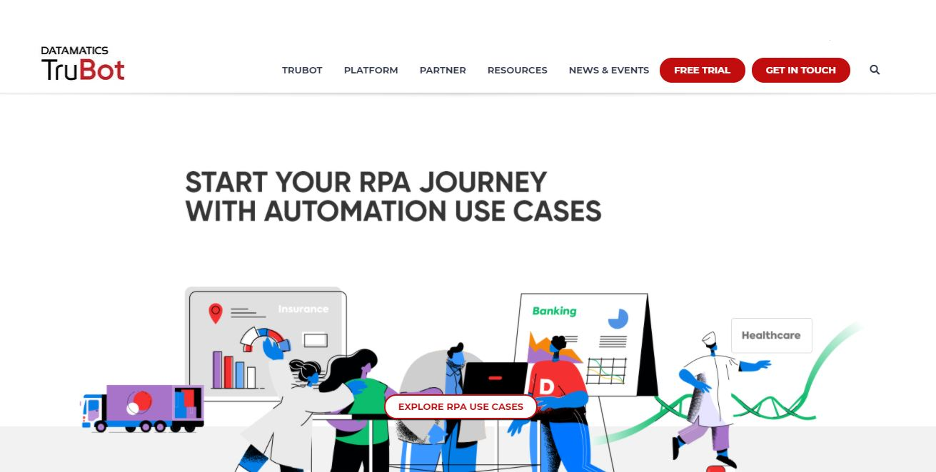 Datamatics TruBot is a Robotic Process Automation Software