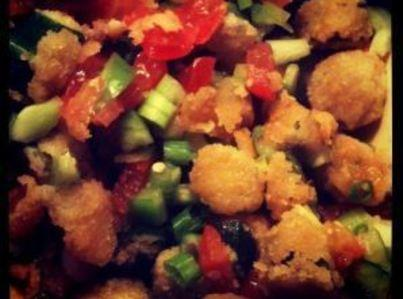 Fried Okra Salad -- Yum! Recipe