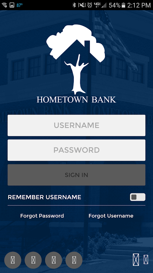 HomeTown Bank of Alabama- screenshot