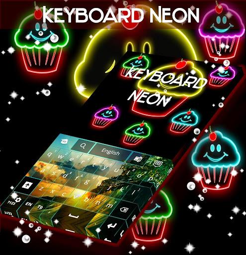 键盘主题霓虹灯蛋糕