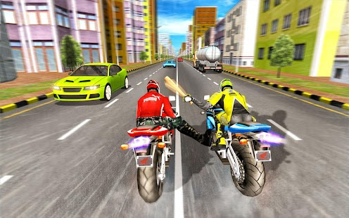 Bike Attack Race : Highway Tricky Stunt Rider Screenshot