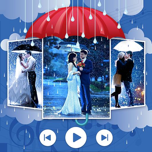 Rain Photo Video Maker With Music