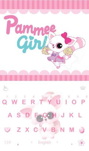 Pammee Girl Keyboard Theme