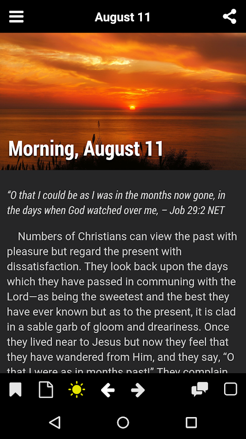 Morning And Evening Devotional Android Apps On Google Play