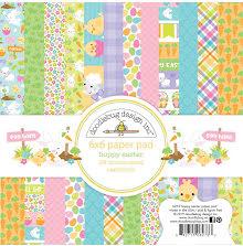 Doodlebug Double-Sided Paper Pad 6X6 24/Pkg - Hoppy Easter