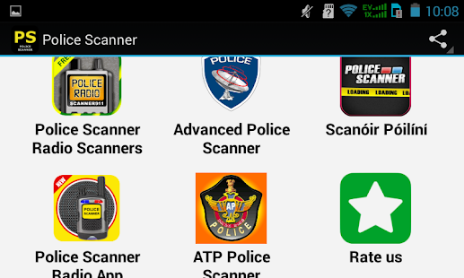 Top Police Scanner Apps - náhled