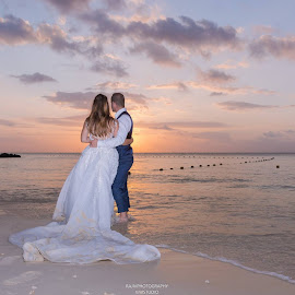 WEDDING AT SUNSET by Rajiv Groochurn - Wedding Bride & Groom