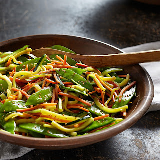 Sauteed Vegetables with Garlic & Soy Sauce.
