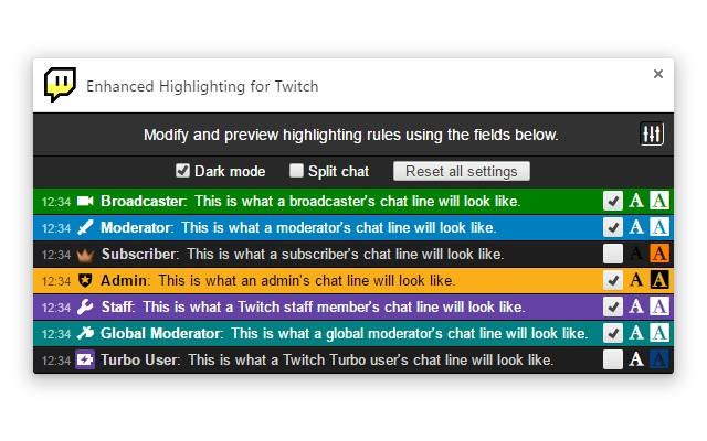 Enhanced Highlighting for Twitch