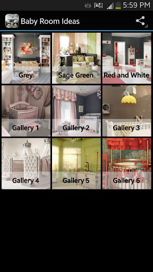 Baby Room Ideas app screenshot