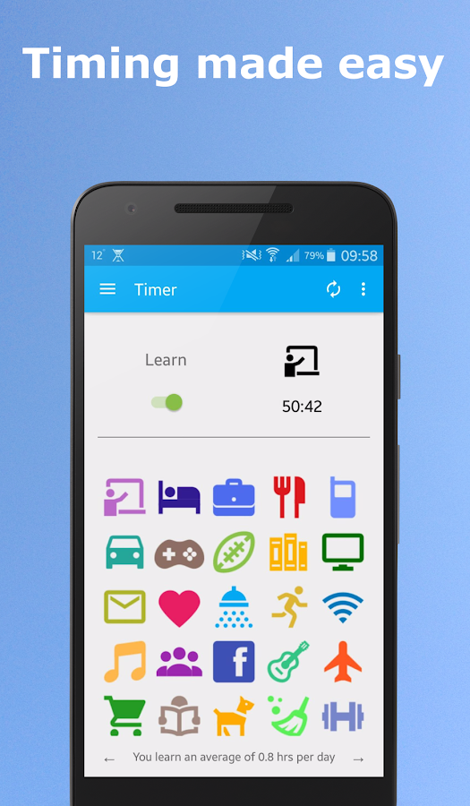 Time Management App: Moments- screenshot