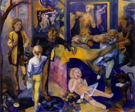 Photo: - Allegorie der Liebe. Tempera,Öl/Lwnd. 140x160cm 1998